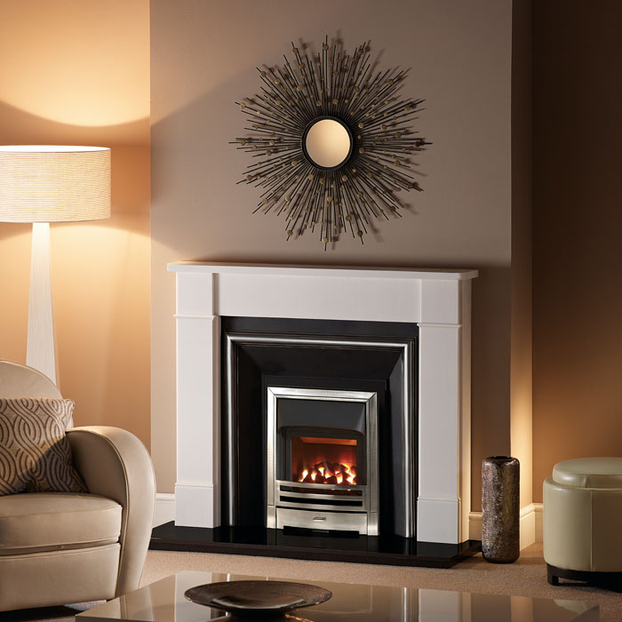 un-named agean limestone fireplace