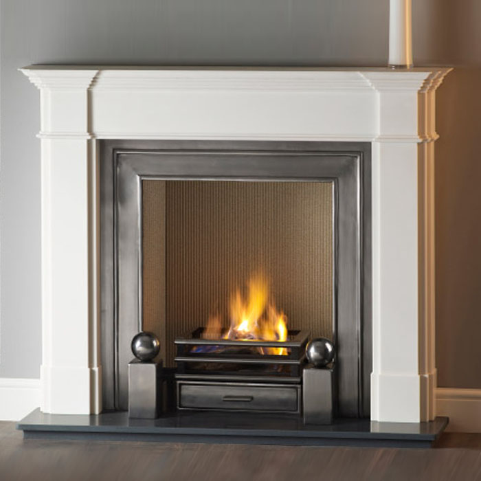 Natural limestone fireplaces