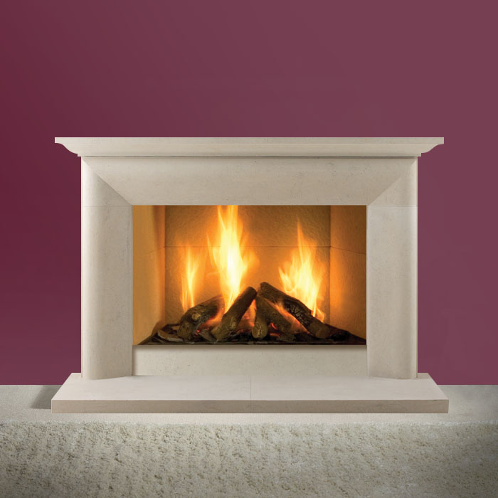 montgomery bath stone fireplace