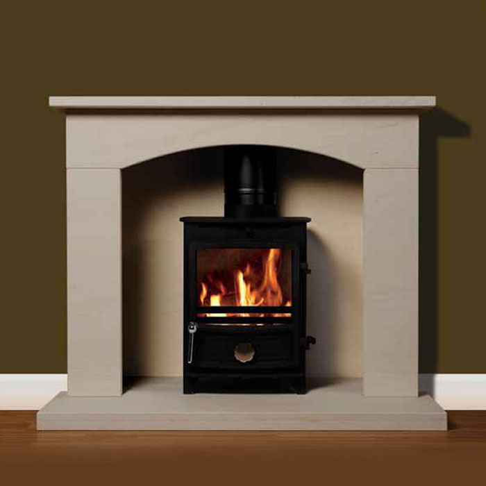 Surrey 44 with stove fireplace