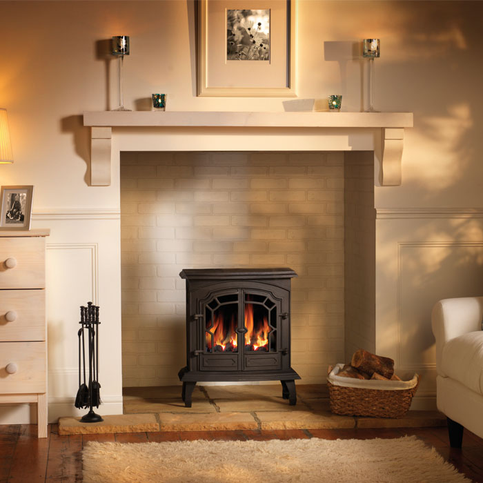 Our range of flueless gas fire stoves include inset and wall fires