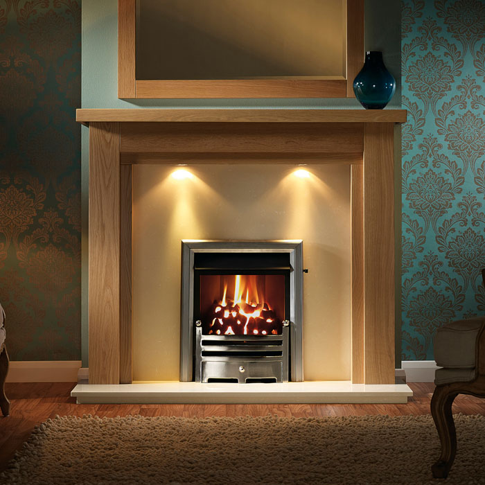 copgrove 54 mocha beige back panel fireplace