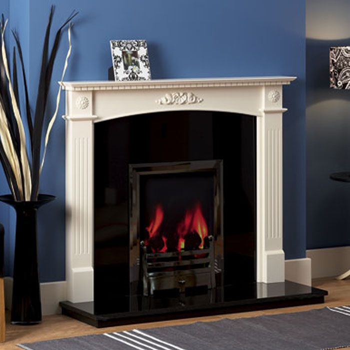 dalby ant white wood fireplace