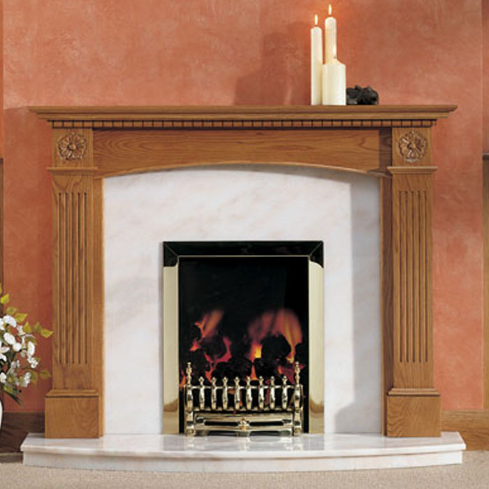 denbigh rose oak fireplace