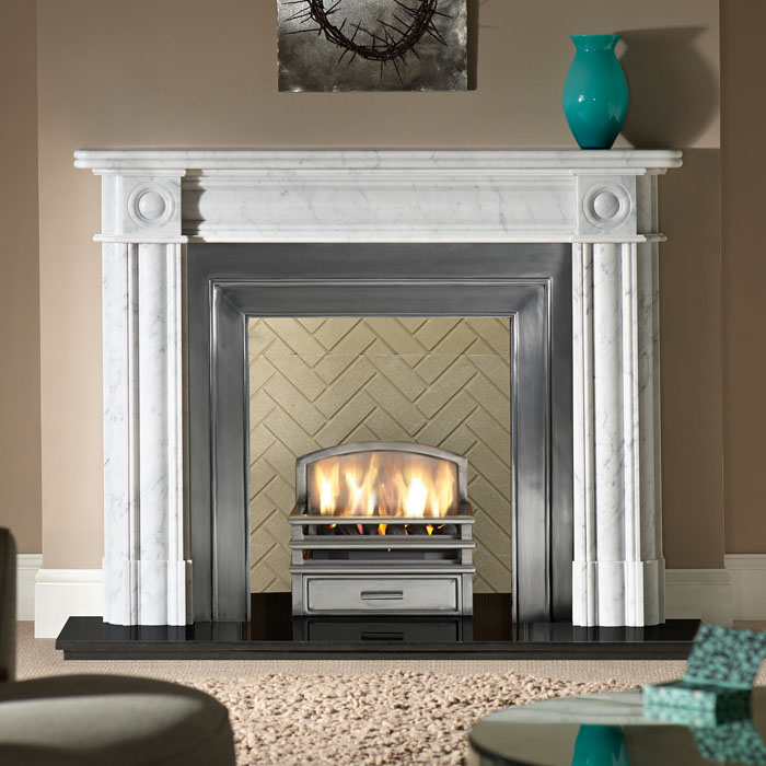 regent carrara bamburgh fireplace