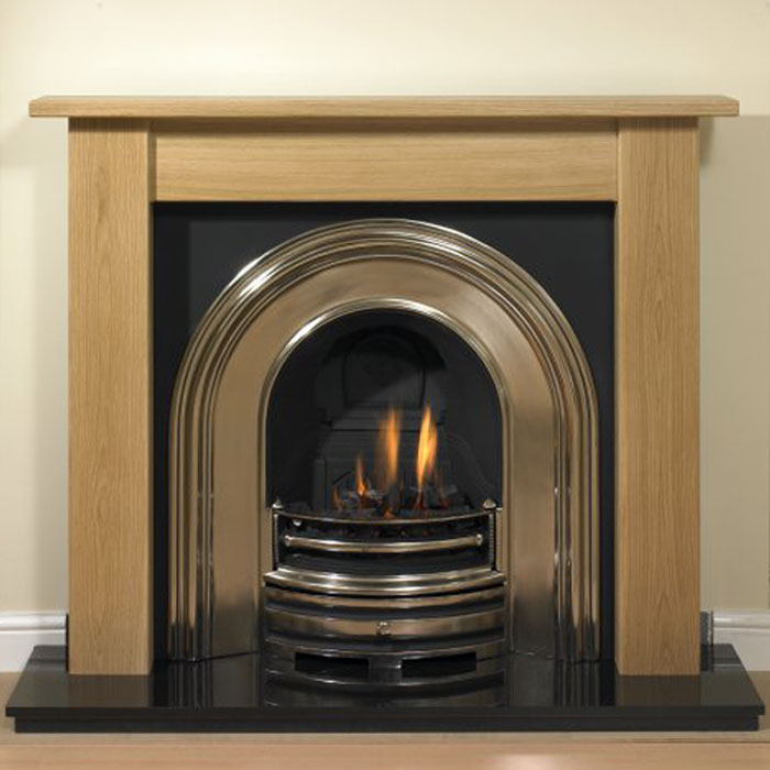 oak gladstone fireplace