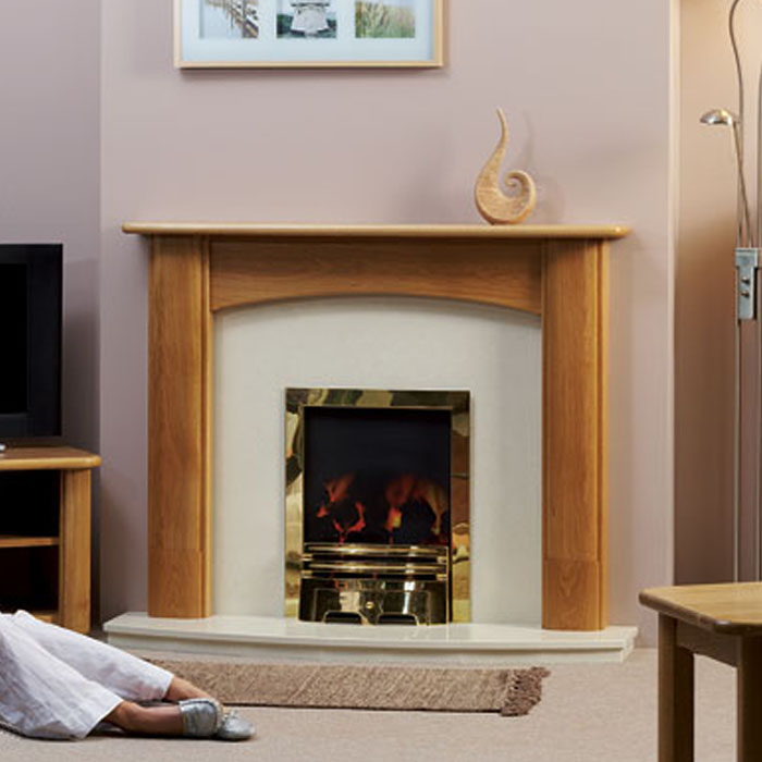 deighton oak fireplace