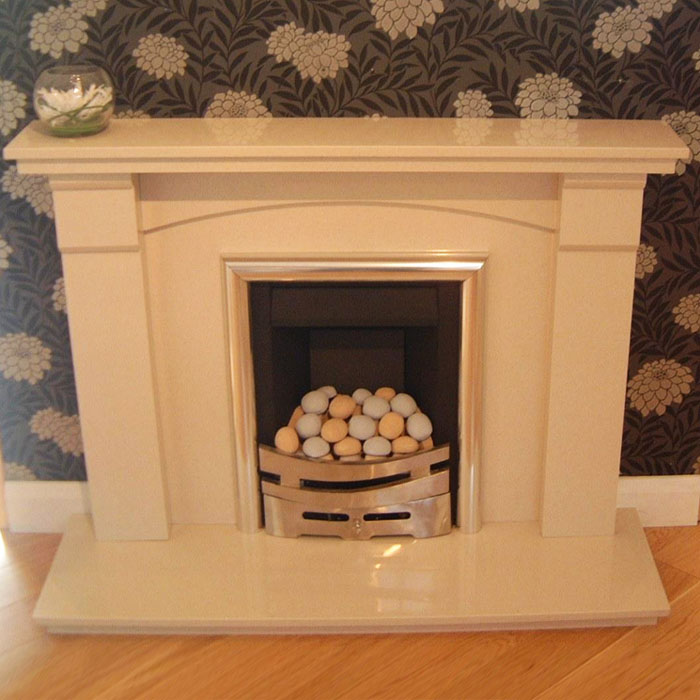 brittany 48 marble fireplace